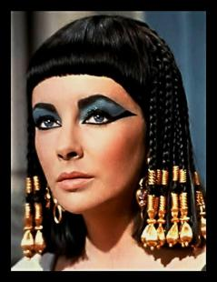 Elizabeth Taylor, a natural beauty herself in her role as Cleopatra.