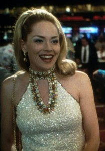 This dress worn in Sharon Stone's opening scene weighed 40 pounds.