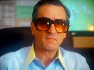 """In the final scene of """"Casino"""" DeNiro rocks these oversized tinted glasses that are for the fashion God's!"""