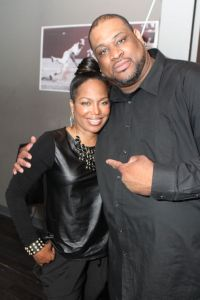 Michel'le  during her recent visit to the Colisieum in St. Louis