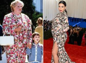 Who wore it best? Mrs. Doubtfire or Kim Kardashian?