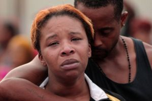 Lesley McSpadden, mother of Michael Brown, 17.